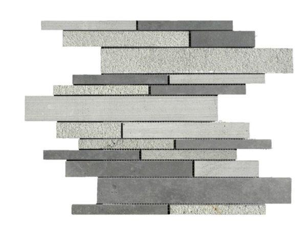 Black Basalt Mosaic Tile Deco Strip Honed Gray Indoor Floor Wall Backsplash Countertop Tub Shower Vanity QDIsurfaces
