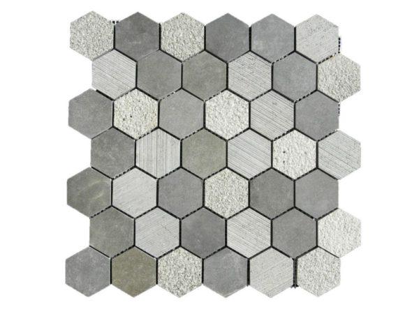 Black Basalt Mosaic Tile Hexagon Honed Gray Indoor Floor Wall Backsplash Countertop Tub Shower Vanity QDIsurfaces