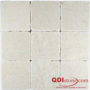 Botticino Marble Tile 4x4 Tumbled Gray White Indoor Floor Wall Backsplash Tub Shower Vanity QDIsurfaces