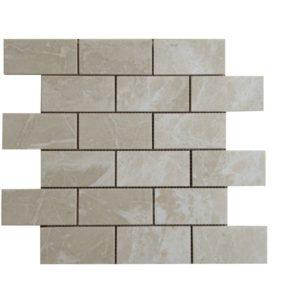 Crema Marfil Marble Mosaic Tile 2x4 Polished Beige Cream Gray Indoor Floor Wall Backsplash Tub Shower Vanity QDI