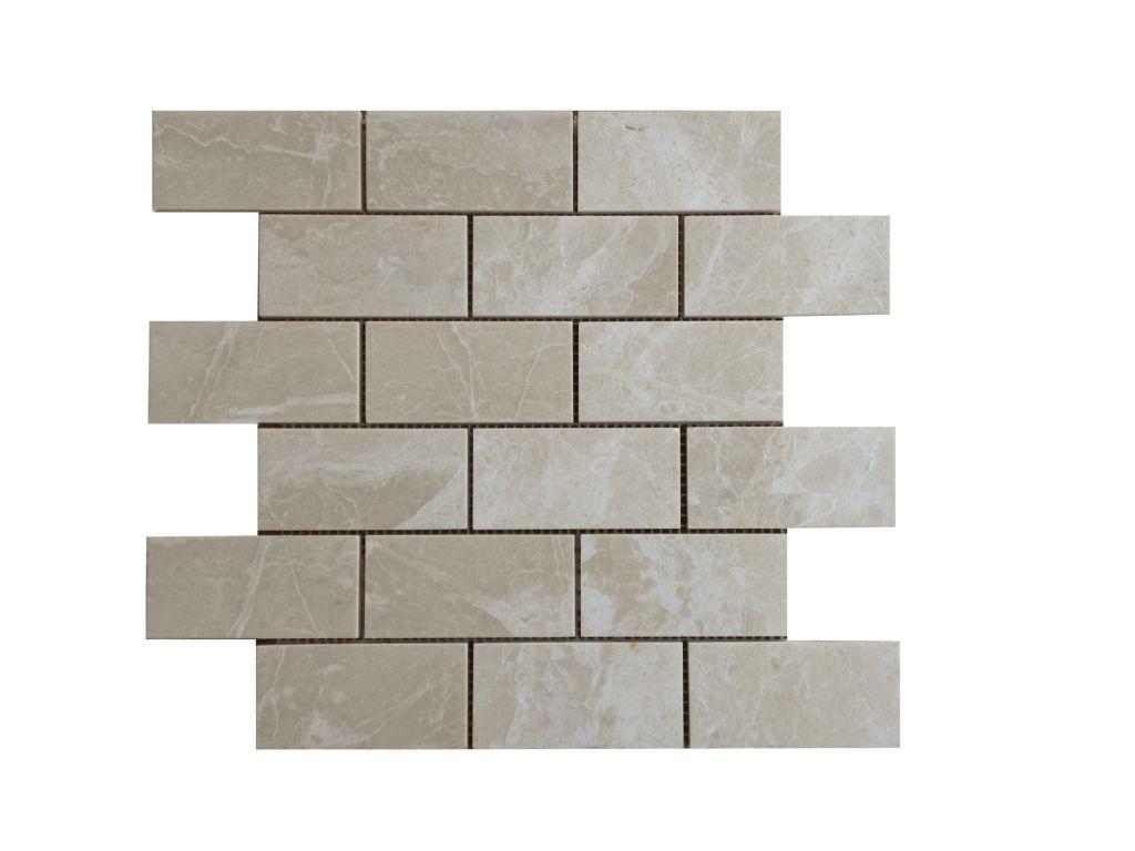 Crema marfil marble mosaic tile qdi surfaces crema marfil marble mosaic tile 2x4 polished beige cream gray indoor floor wall backsplash tub shower dailygadgetfo Gallery