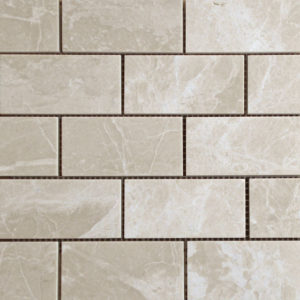 Crema Marfil Marble Mosaic Tile Beige Cream Gray Indoor Floor Wall Backsplash Tub Shower Vanity QDIsurfaces
