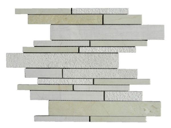 Crema Marfil Marble Mosaic Tile Deco Strip Honed 3 Beige Cream Gray Indoor Floor Wall Backsplash Tub Shower Vanity QDI