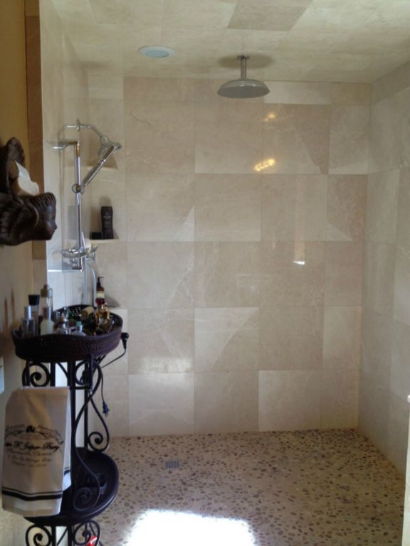 Crema Marfil Marble Tile 18x18 Polished Gray White Indoor Floor Wall Backsplash Tub Shower Vanity QDIsurfaces