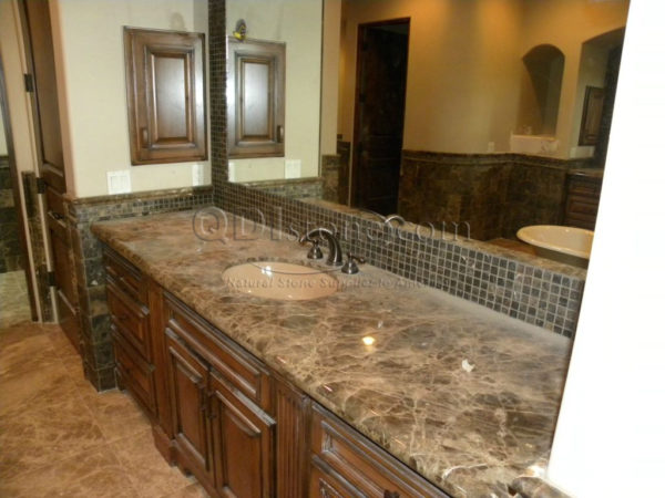Dark Emprador Marble Tile 12x12 Polished 13 Brown Tan Indoor Floor Wall Backsplash Tub Shower Vanity QDIsurfaces