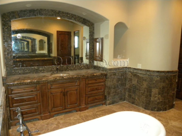 Dark Emprador Marble Tile 12x12 Polished 14 Brown Tan Indoor Floor Wall Backsplash Tub Shower Vanity QDIsurfaces