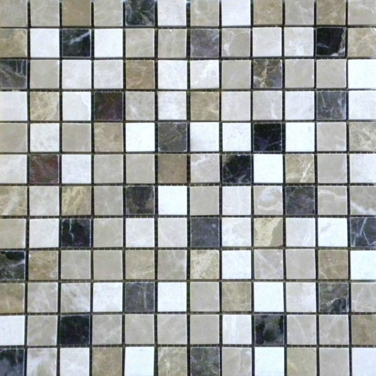 Dark Mixed Marble Mosaic Tile Qdi Surfaces