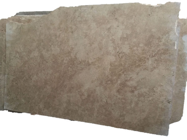 English Walnut Travertine Slab 9x6 Unfilled Honed Tan Brown Beige Cream Indoor Outdoor QDISurfaces