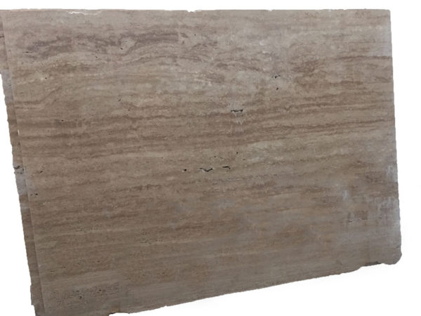 English Walnut Vein Cut Travertine Slab 9x6 Unfilled Honed Tan Brown Beige Cream Indoor Outdoor QDISurfaces