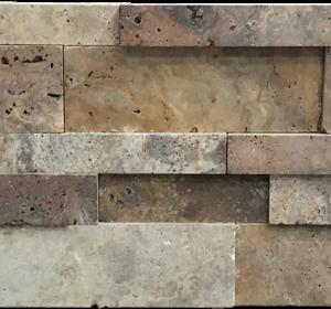 Fantastico 3-Size Stack Stone Travertine Split-face Mosaic Tile