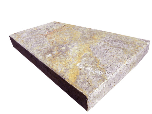 Fantastico Classic Travertine Paver 12x12 5cm Brushed Beige Cream Tan Brown White Gray Outdoor Floor Wall Pool Patio Backyard Tub