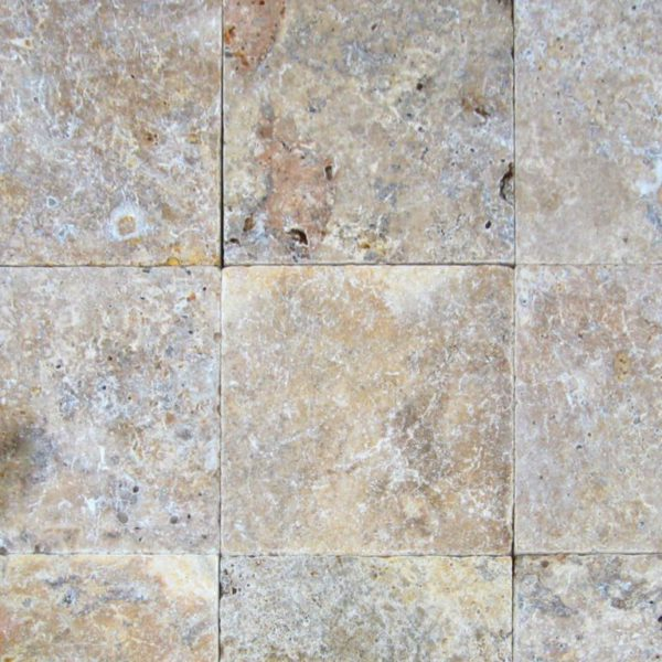 Fantastico Classic Travertine Paver 12x12 Tumbled Beige Cream Tan Brown White Gray Outdoor Floor Wall Pool Patio Backyard Tub