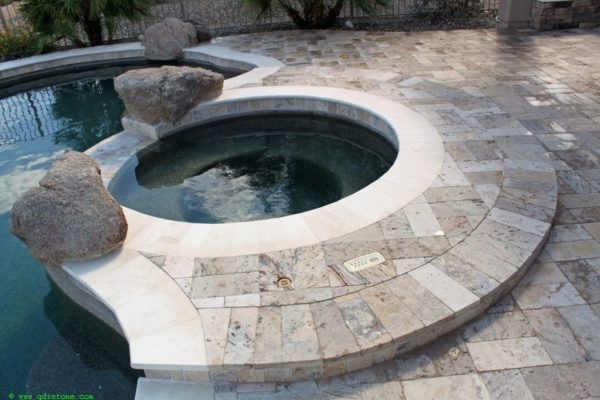 Fantastico Classic Travertine Paver 6x12 Tumbled 11 Beige Cream Tan Brown White Gray Outdoor Floor Wall Pool Patio Backyard Tub Shower