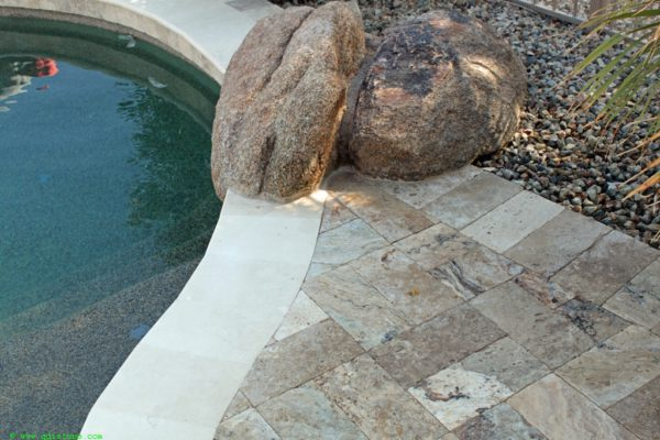 Fantastico Classic Travertine Paver 6x12 Tumbled 14 Beige Cream Tan Brown White Gray Outdoor Floor Wall Pool Patio Backyard Tub Shower