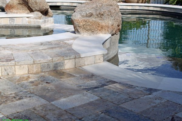 Fantastico Classic Travertine Paver 6x12 Tumbled 15 Beige Cream Tan Brown White Gray Outdoor Floor Wall Pool Patio Backyard Tub Shower