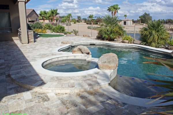 Fantastico Classic Travertine Paver 6x12 Tumbled 3 Beige Cream Tan Brown White Gray Outdoor Floor Wall Pool Patio Backyard Tub Shower