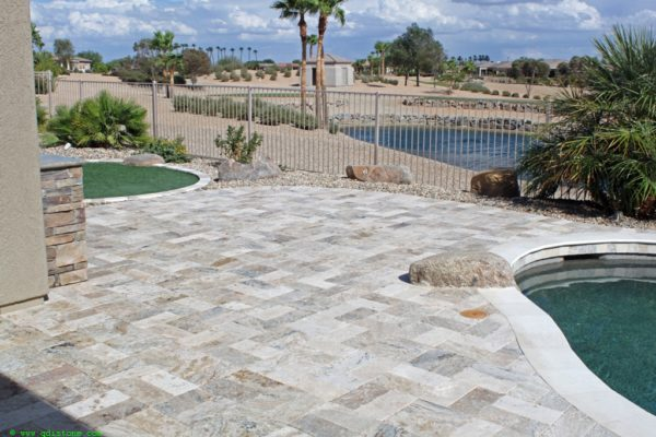 Fantastico Classic Travertine Paver 6x12 Tumbled 5 Beige Cream Tan Brown White Gray Outdoor Floor Wall Pool Patio Backyard Tub Shower