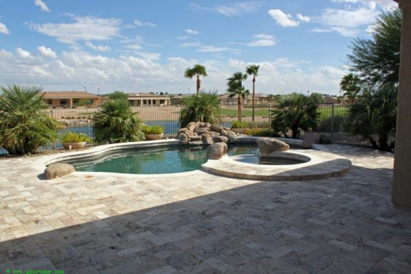 Fantastico Classic Travertine Paver 6x12 Tumbled 6 Beige Cream Tan Brown White Gray Outdoor Floor Wall Pool Patio Backyard Tub Shower