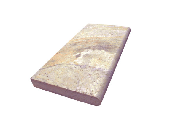 Fantastico Classic Travertine Pool Coping 12x24 5cm 2 Beige Cream Tan Brown White Gray Outdoor Floor Pool Patio Backyard