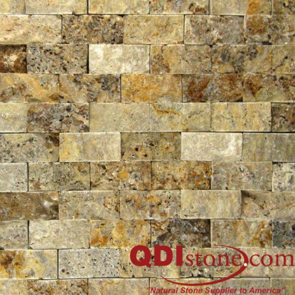 Fantastico Travertine Split Face Tile 1x2 Tan Brown Beige Cream Gray Indoor Outdoor Wall Backsplash Tub Shower Vanity QDI
