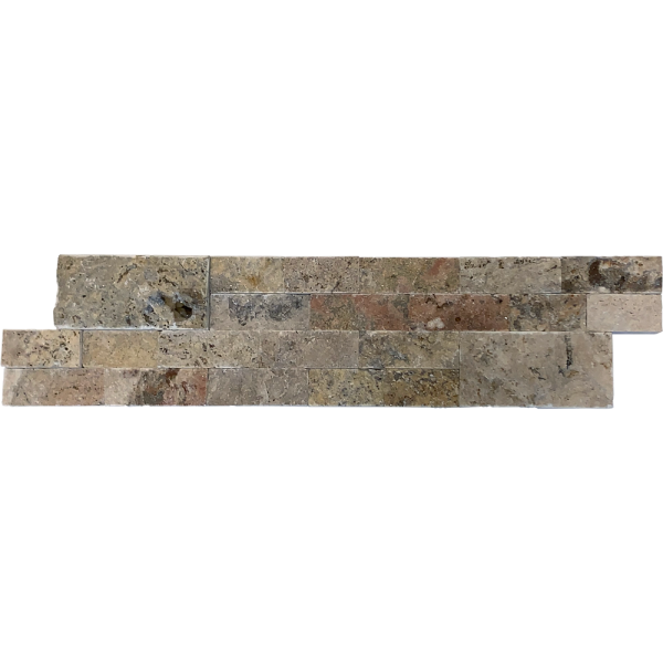 Fantastico Travertine Split Face Tile 2 Size 6x24 Pattern Tan Brown Beige Cream Gray Indoor Outdoor Wall Backsplash Tub Shower Vanity QDIsurfaces