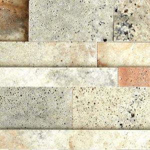 Fantastico Travertine Stack Stone Wall Cladding Panel Tan Brown Beige Cream Gray Indoor Outdoor Wall Backsplash Tub Shower Vanity QDI