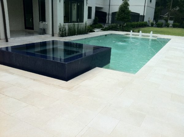 Freska Limestone Paver 16x24 Tumbled 2 White Gray Outdoor Floor Wall Pool Patio Backyard QDIsurfaces