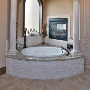 Freska Limestone Split Face Tile 2x4 Gray White Indoor Outdoor Wall Backsplash Tub Shower Vanity QDIsurfaces