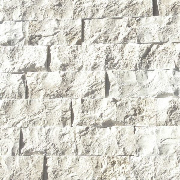 Freska Limestone Split Face Tile 4 x Random Length Gray White Indoor Outdoor Wall Backsplash Tub Shower Vanity QDIsurfaces