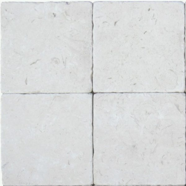 Freska Limestone Tile 4x4 Tumbled White Gray Indoor Floor Wall Backsplash Tub Shower Vanity QDIsurfaces
