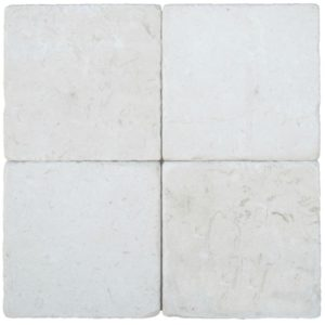 Freska Limestone Tile 6x6 Tumbled White Gray Indoor Floor Wall Backsplash Tub Shower Vanity QDIsurfaces