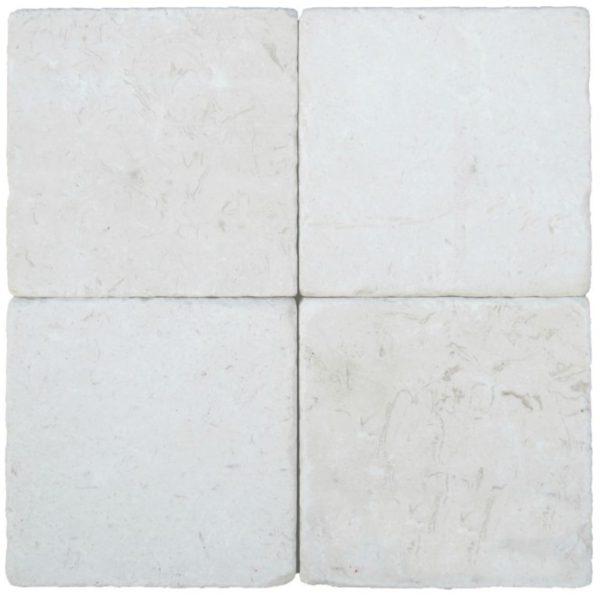 Freska Limestone Tile 6x6 Tumbled White Gray Indoor Floor Wall Backsplash Tub Shower Vanity QDIsurfaces