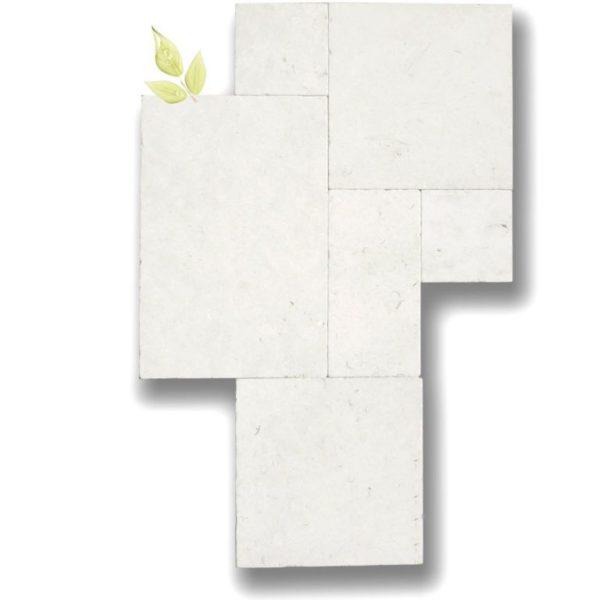 Freska Limestone Tile Versailles Pattern Tumbled White Gray Indoor Floor Wall Backsplash Tub Shower Vanity QDIsurfaces