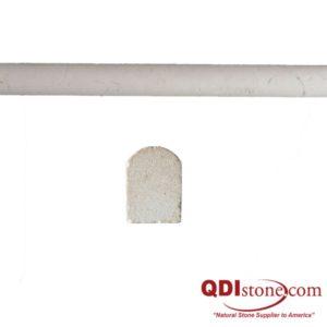 Freska Limestone Trim Tile Pencil Rail Honed White Gray Indoor Floor Wall Backsplash Tub Shower Vanity QDIsurfaces