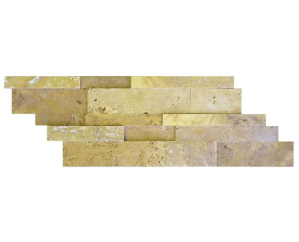 Gold Travertine Mosaic Tile Z Pattern Honed Tan Brown Yellow Gold Indoor Floor Wall Backsplash Countertop Tub Shower Vanity QDIsurfaces