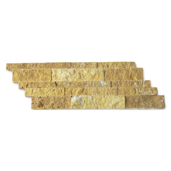 Gold Travertine Split Face Tile Z Pattern Split Face Tan Brown Yellow Gold Indoor Outdoor Wall Backsplash Tub Shower Vanity QDIsurfaces