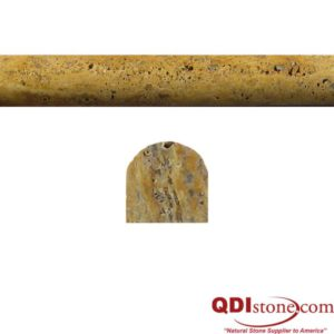 Gold Travertine Trim Tile Pencil Rail Honed Tan Brown Yellow Gold Indoor Wall Backsplash Tub Shower Vanity QDIsurfaces