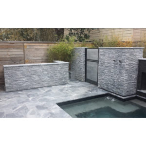 Icelandic Blue Sky Marble Paver Versailles Pattern Tumbled and Split-Face Z-Pattern Blue Gray White Outdoor Floor Wall Pool Patio Backyard QDIsurfaces