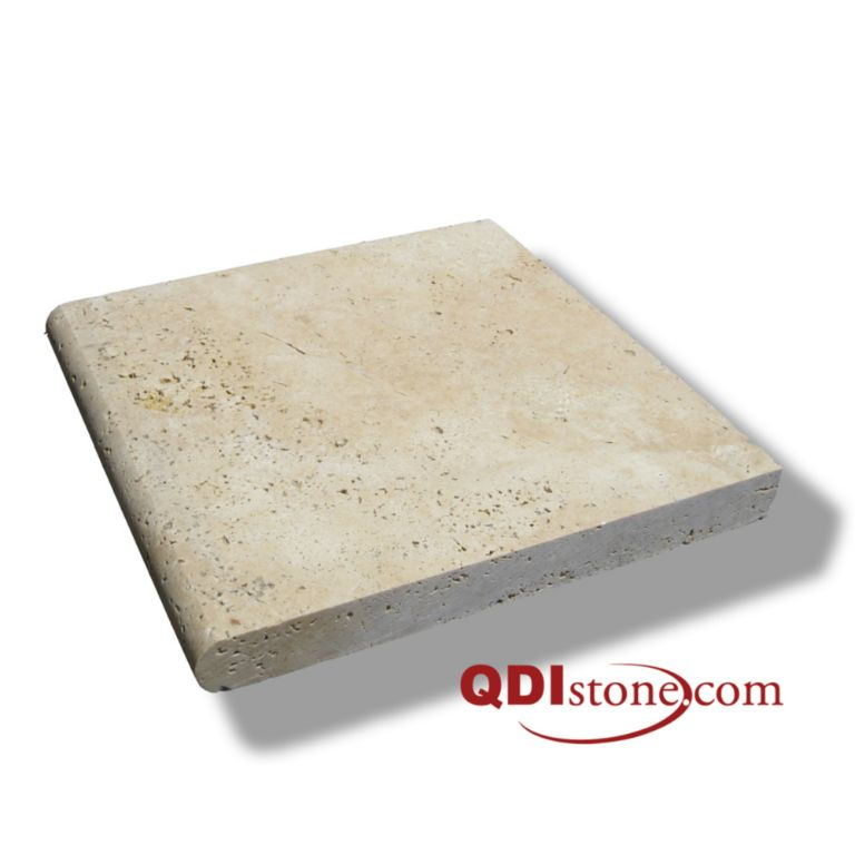 Ivory Beige Travertine Pool Coping 12x12 3cm Honed Beige Cream White Outdoor Floor Wall Pool Patio Backyard Tub Shower Vanity QDI