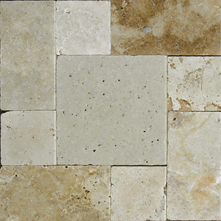 Light Earth Travertine Paver Beige Cream Brown Tan Outdoor Floor Wall Pool Patio Backyard Tub Shower Vanity QDIsurfaces