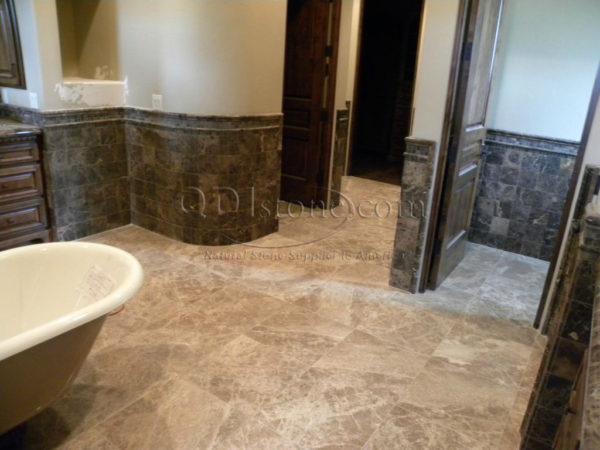 Light Emprador Marble Tile 18x18 Polished 2 Brown Tan Indoor Floor Wall Backsplash Tub Shower Vanity QDIsurfaces
