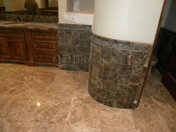 Light Emprador Marble Tile 18x18 Polished Brown Tan Indoor Floor Wall Backsplash Tub Shower Vanity QDIsurfaces