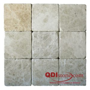 Light Emprador Marble Tile 4x4 Tumbled 2 Brown Tan Indoor Floor Wall Backsplash Tub Shower Vanity QDIsurfaces