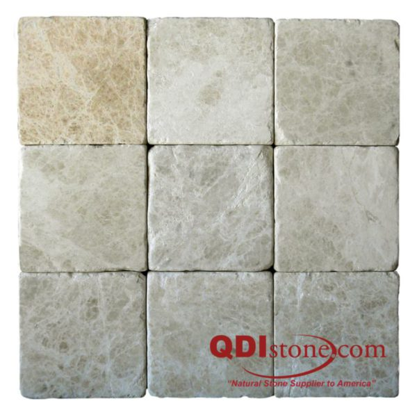 Light Emprador Marble Tile 4x4 Tumbled 2 Brown Tan Indoor Floor Wall Backsplash Tub Shower Vanity QDIsurfaces