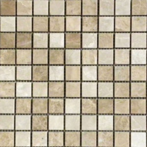 Light Mixed Marble Mosaic Tile Beige Cream Tan Brown Indoor Floor Wall Backsplash Tub Shower Vanity QDIsurfaces