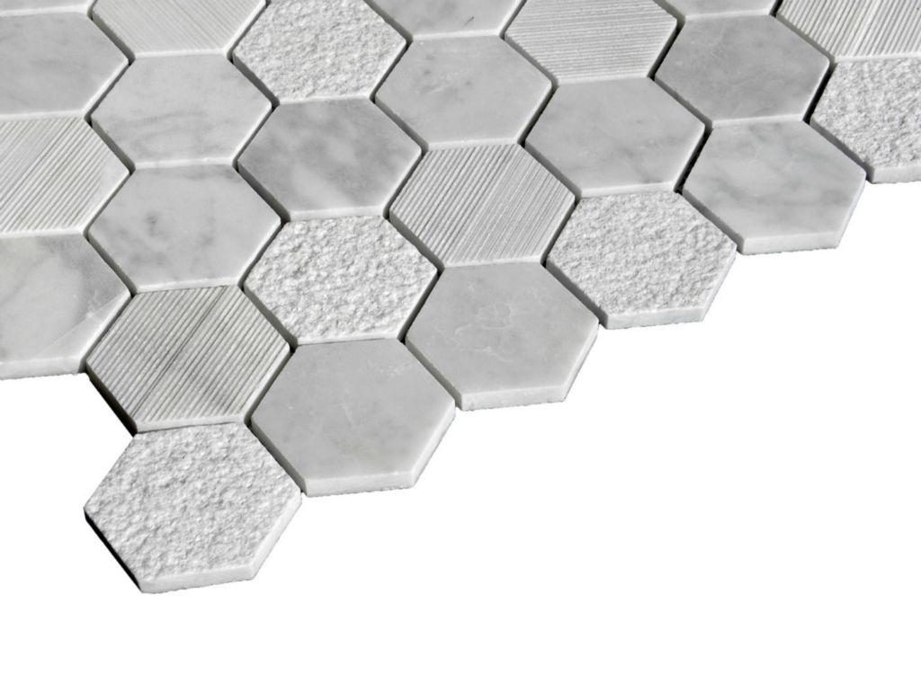 LUSSO CARRARA Marble Mosaic Tile   QDI Surfaces®
