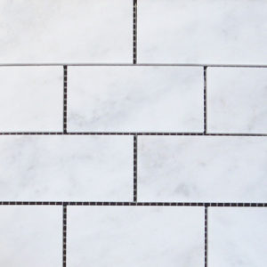 Lusso Carrara Marble Mosaic Tile White Gray Indoor Floor Wall Backsplash Tub Shower Vanity QDIsurfaces