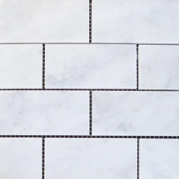 Lusso Carrara Marble Mosaic Tile White Gray Indoor Floor Wall Backsplash Tub Shower Vanity QDIsurfaces