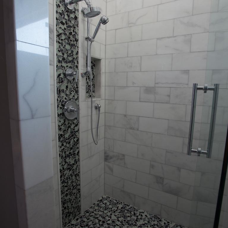 lusso carrara marble tile 6x12 polished 3 gray white indoor floor wall backsplash tub shower vanity