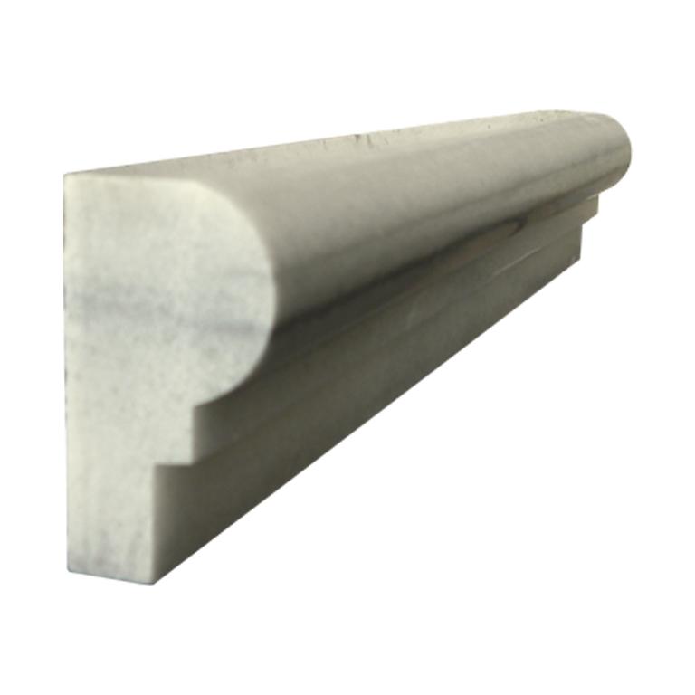Marmara White Marble Trim Tile Single Ogee Polished 2 Gray White Indoor Floor Wall Backsplash Tub Shower Vanity QDIsurfaces